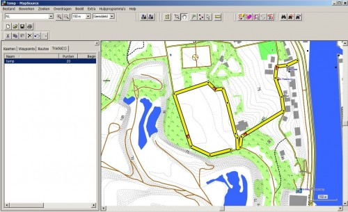 Track from Google Earth opened in MapSource