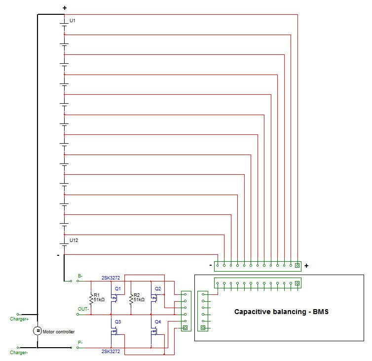 Wiring Diagram Capacitive Battery Cell Balancing Bms