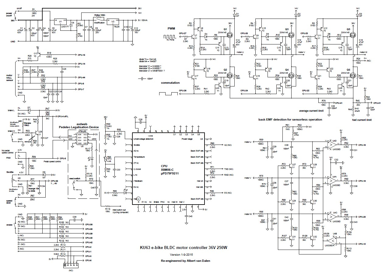 Electric Scooter Throttle Wiring Diagram E Bike Controller Circuit Solution Of Your Ku63 Motor Rh Avdweb Nl 36 Volt Brushless