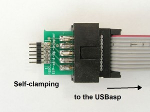 Mini 1x6 ISP adapter for the USBasp