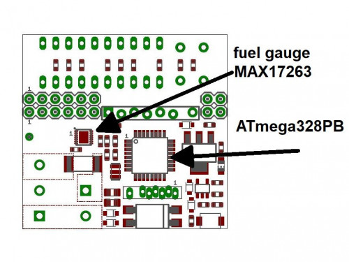 ATmega328PB example with MAX17263 battery fuel gauge