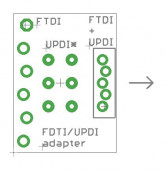 FTDI UPDI adapter board