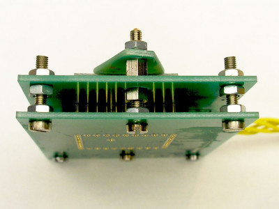 Pogo pin test fixture for PCB probe testing