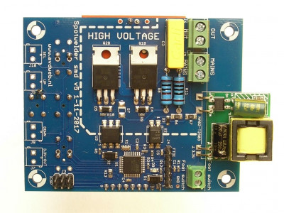 Spot welder control board with TFT display