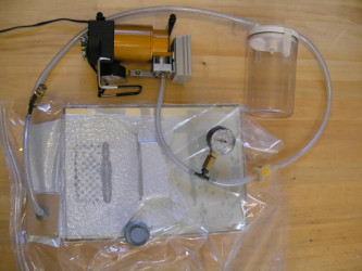 Vacuum seal storage bag in use
