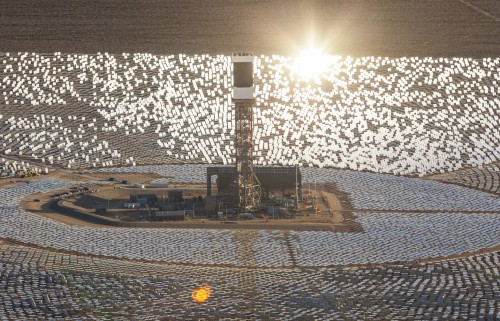 Solar power plant in the Nevada desert