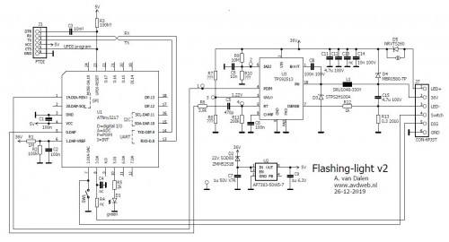 Flashing light circuit v2