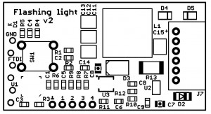 Flashing light pcb v2