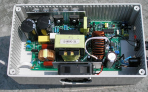 Battery charger inside view