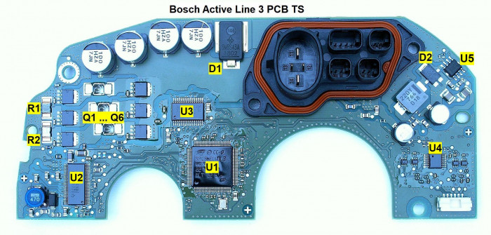 Bosch active line 3 PCB TS dismantled