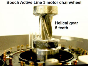 Bosch active line 3 motor gear wheel