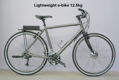 Lightweight e-bike 12.5kg