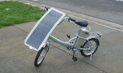 Ebike with PvCool flexible solar panel