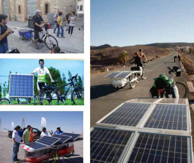 Thesuntrip is a 6000km long solar bike race from France to Kazakhstan