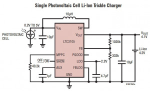 Single solar cell powered step-up converters