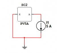 Multisim solar cell dc sweep simulation circuit