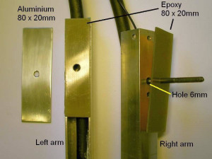 Electrode arms joint