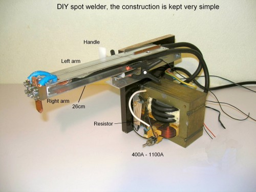 DIY spot welder, the construction is kept very simple